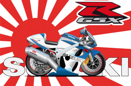 Suzuki GSXR Cartoon