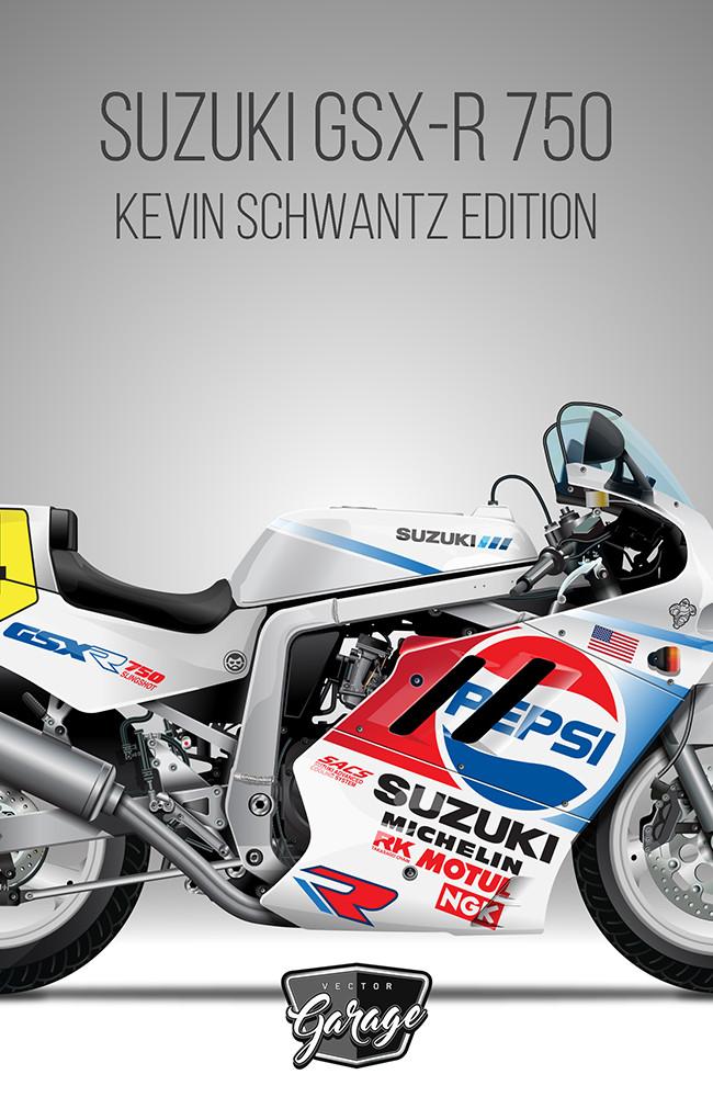 SUZUKI GSX-R 750 Kevin Schwantz